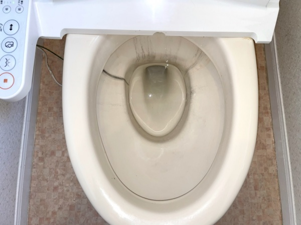 工事後。トイレ水漏れ改善。